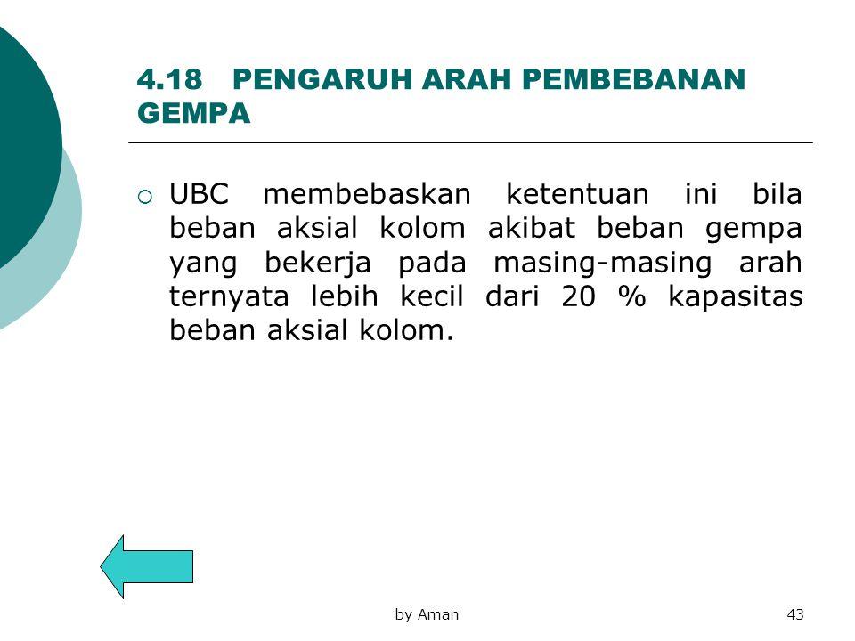 4.18 PENGARUH ARAH PEMBEBANAN GEMPA