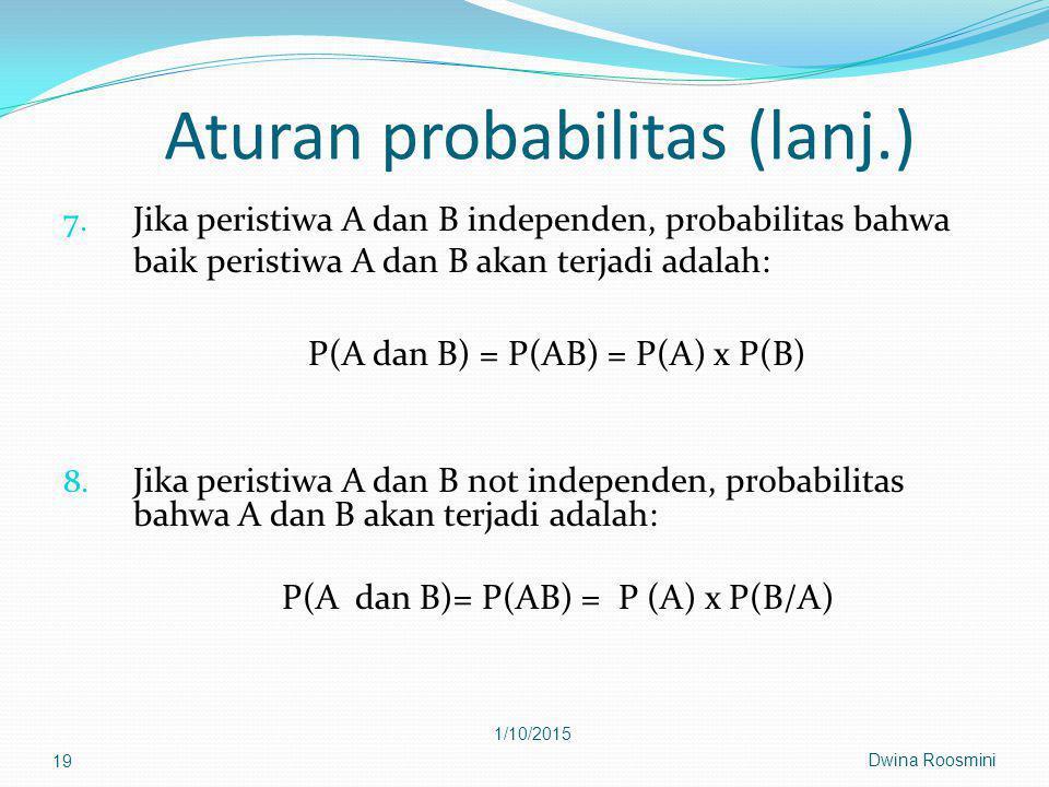 Aturan probabilitas (lanj.)