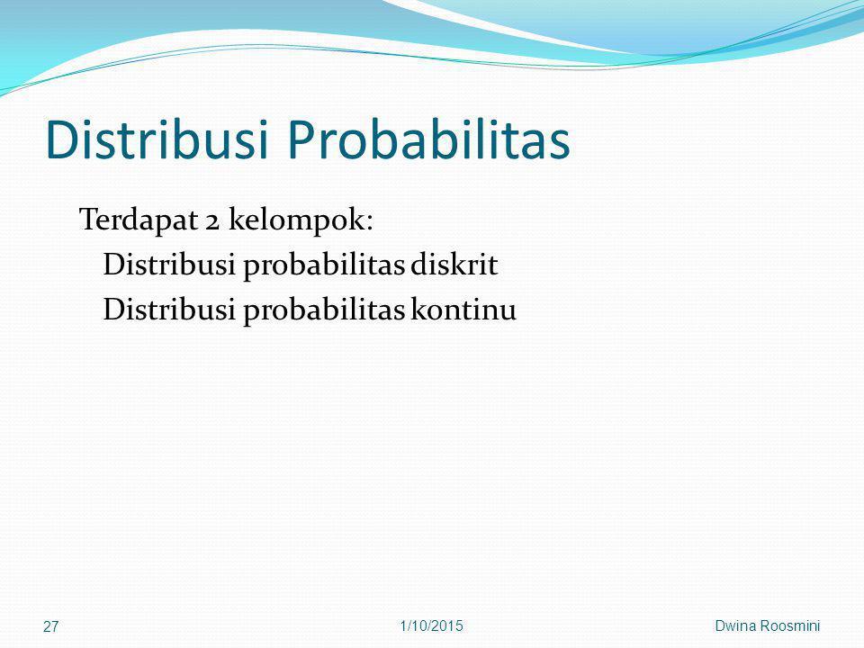 Distribusi Probabilitas
