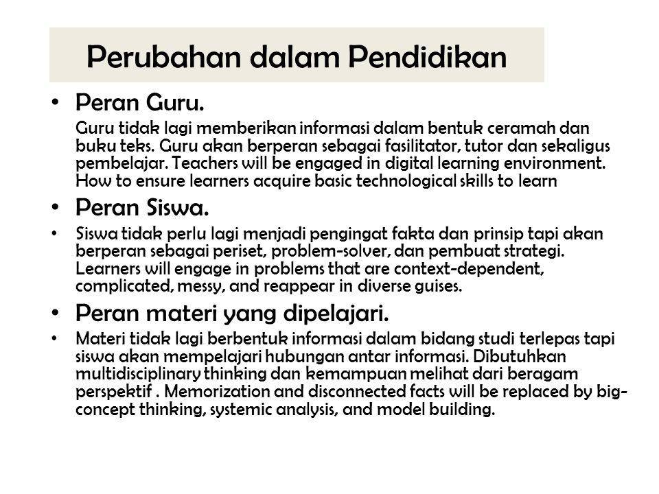 Perubahan dalam Pendidikan