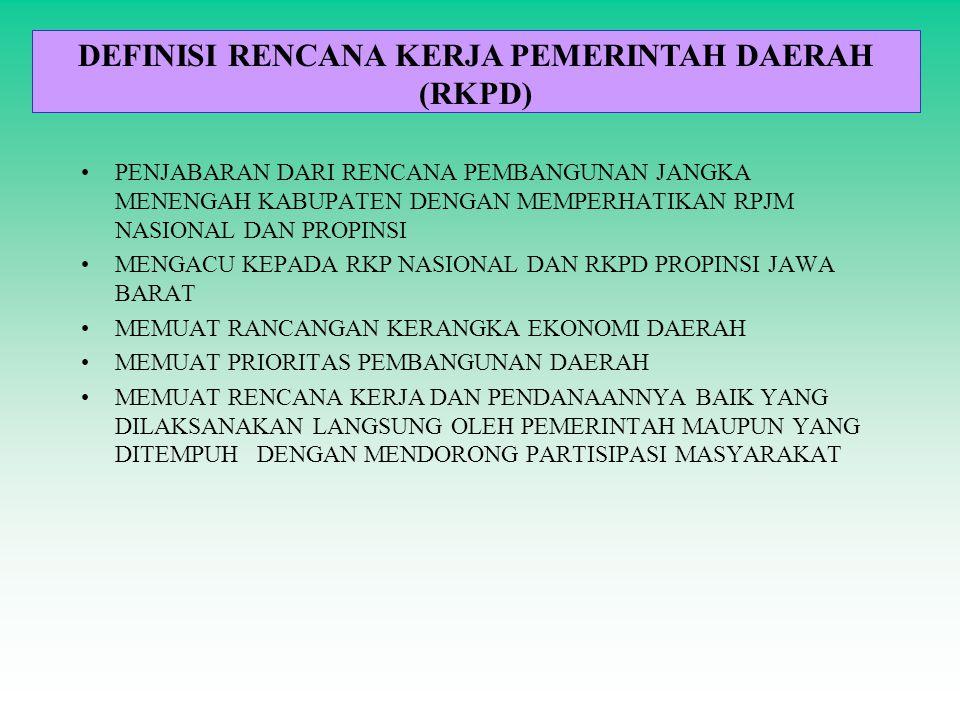 DEFINISI RENCANA KERJA PEMERINTAH DAERAH (RKPD)