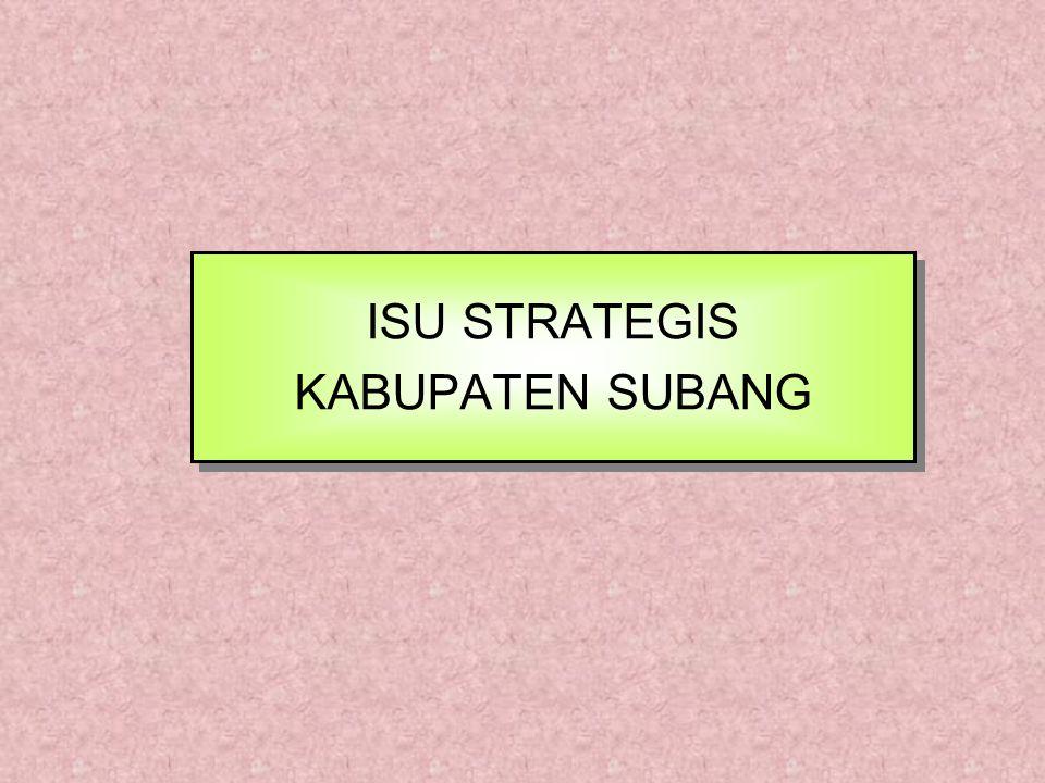 ISU STRATEGIS KABUPATEN SUBANG
