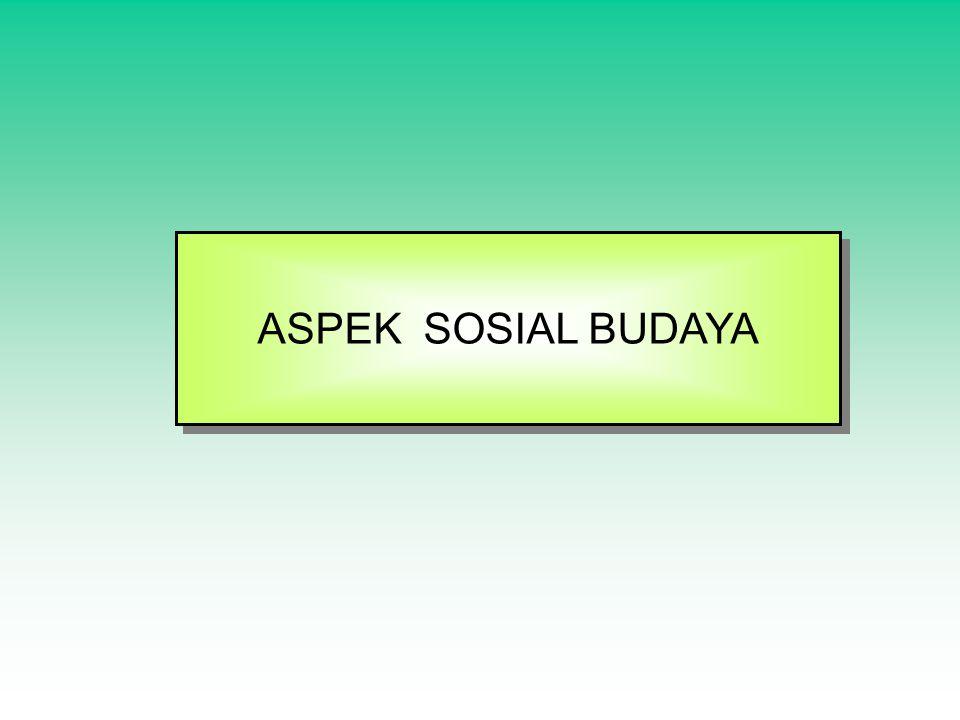 ASPEK SOSIAL BUDAYA