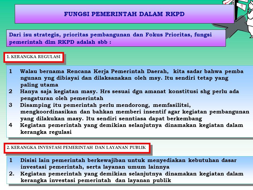 FUNGSI PEMERINTAH DALAM RKPD