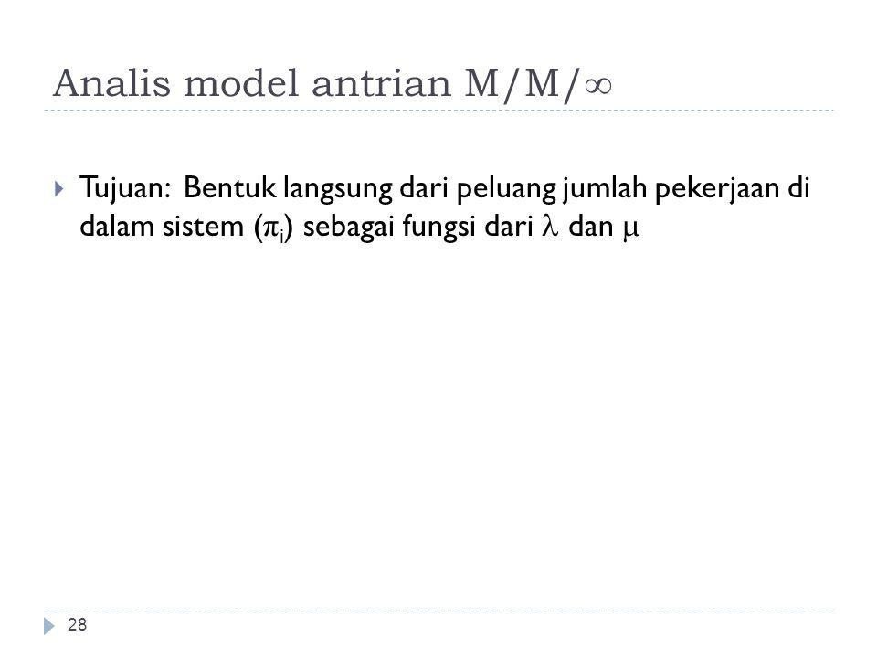 Analis model antrian M/M/∞