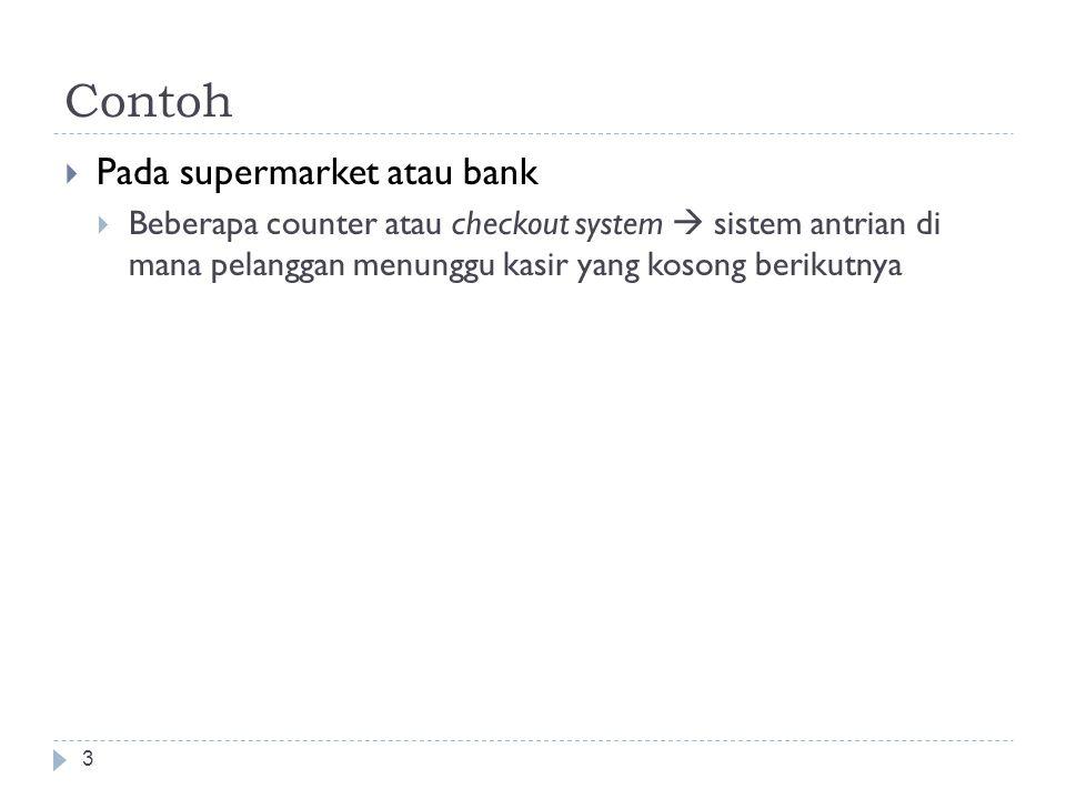 Contoh Pada supermarket atau bank