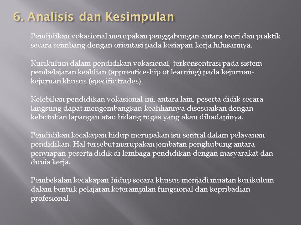 6. Analisis dan Kesimpulan
