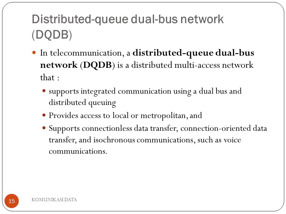 Distributed-queue dual-bus network (DQDB)