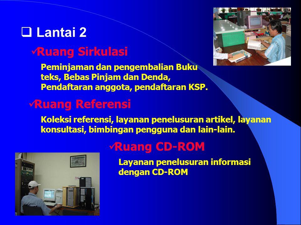 Lantai 2 Ruang Sirkulasi Ruang Referensi Ruang CD-ROM