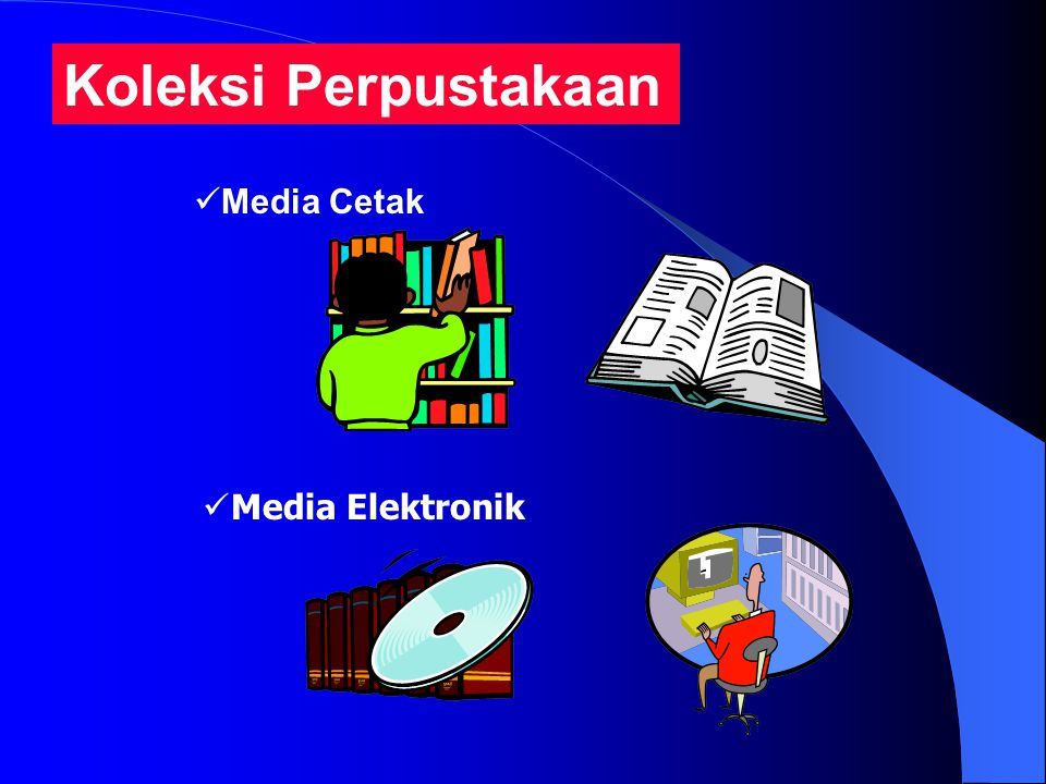 Koleksi Perpustakaan Media Cetak Media Elektronik