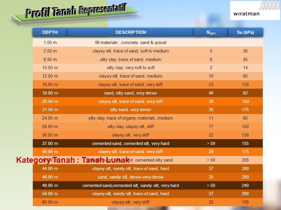 Profil Tanah Representatif