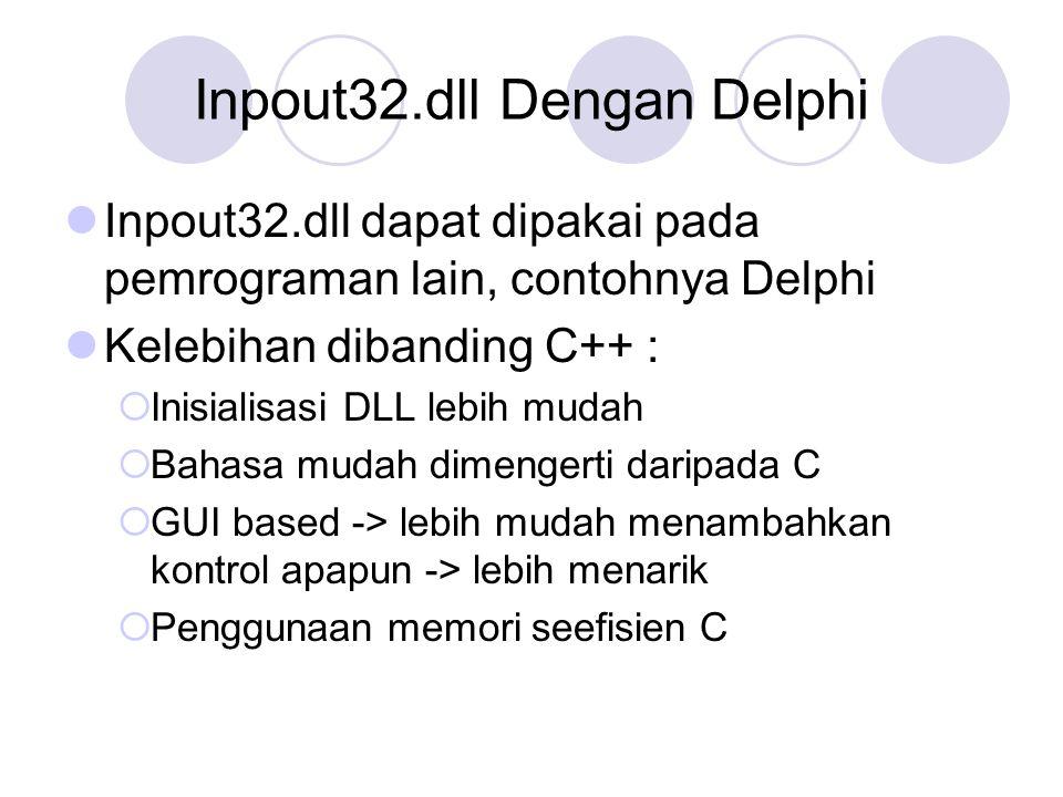 Inpout32.dll Dengan Delphi