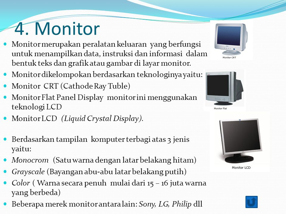4. Monitor