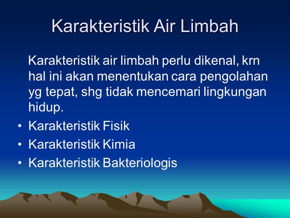 Karakteristik Air Limbah