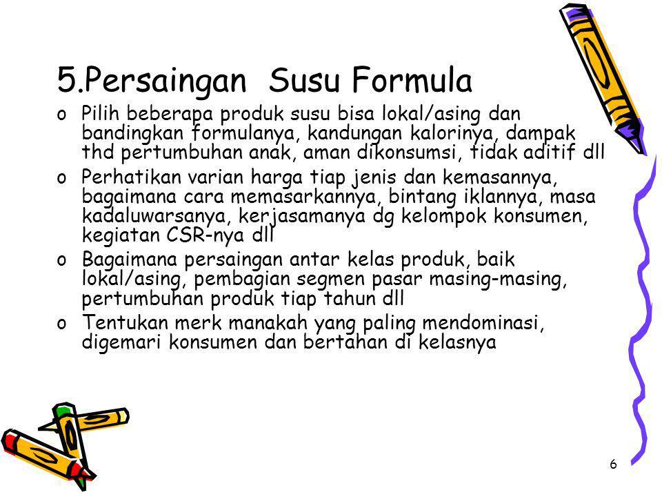 5.Persaingan Susu Formula