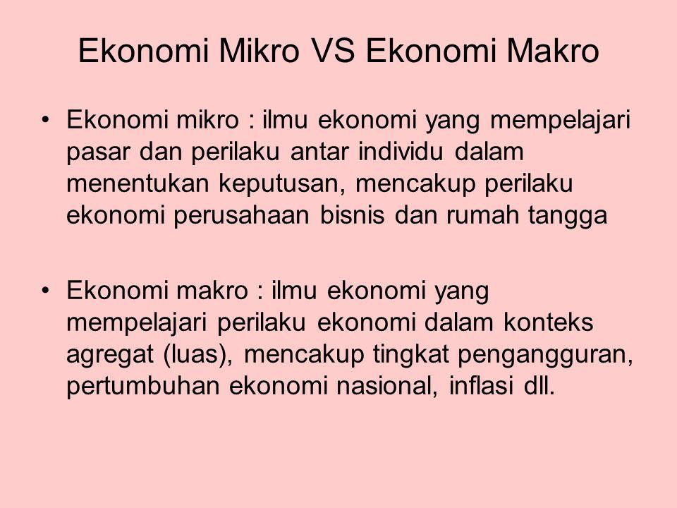 Ekonomi Mikro VS Ekonomi Makro