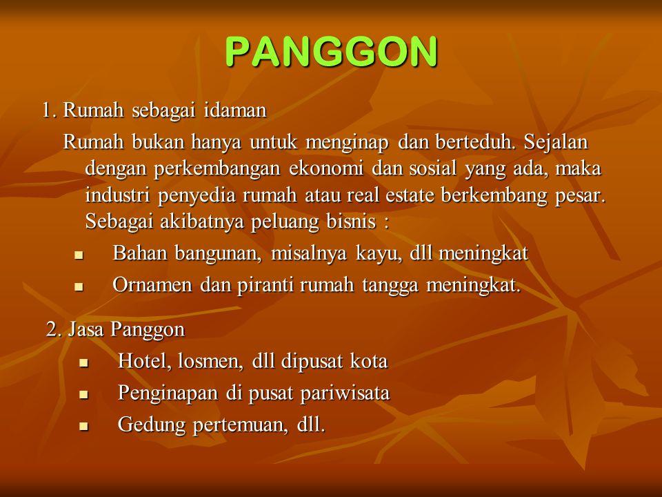 PANGGON 1. Rumah sebagai idaman