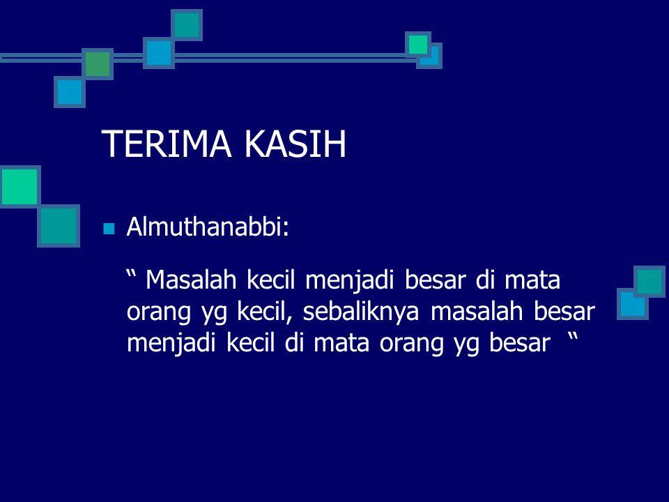 TERIMA KASIH Almuthanabbi: