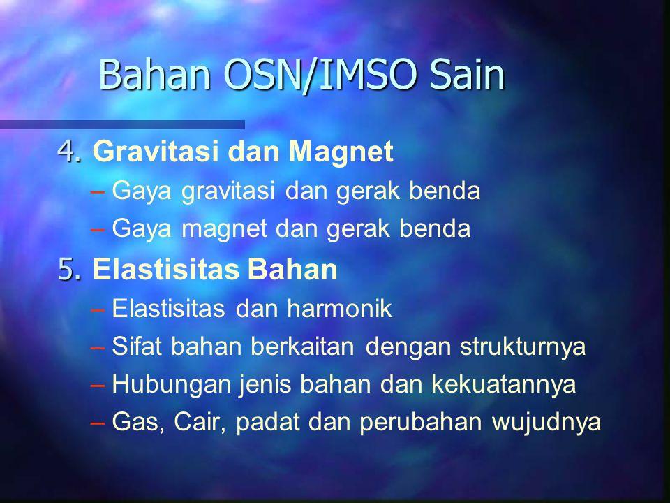 Bahan OSN/IMSO Sain 4. Gravitasi dan Magnet 5. Elastisitas Bahan