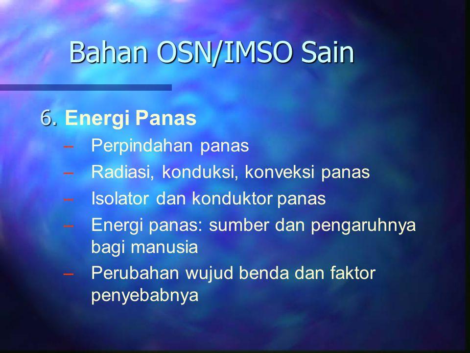 Bahan OSN/IMSO Sain 6. Energi Panas Perpindahan panas