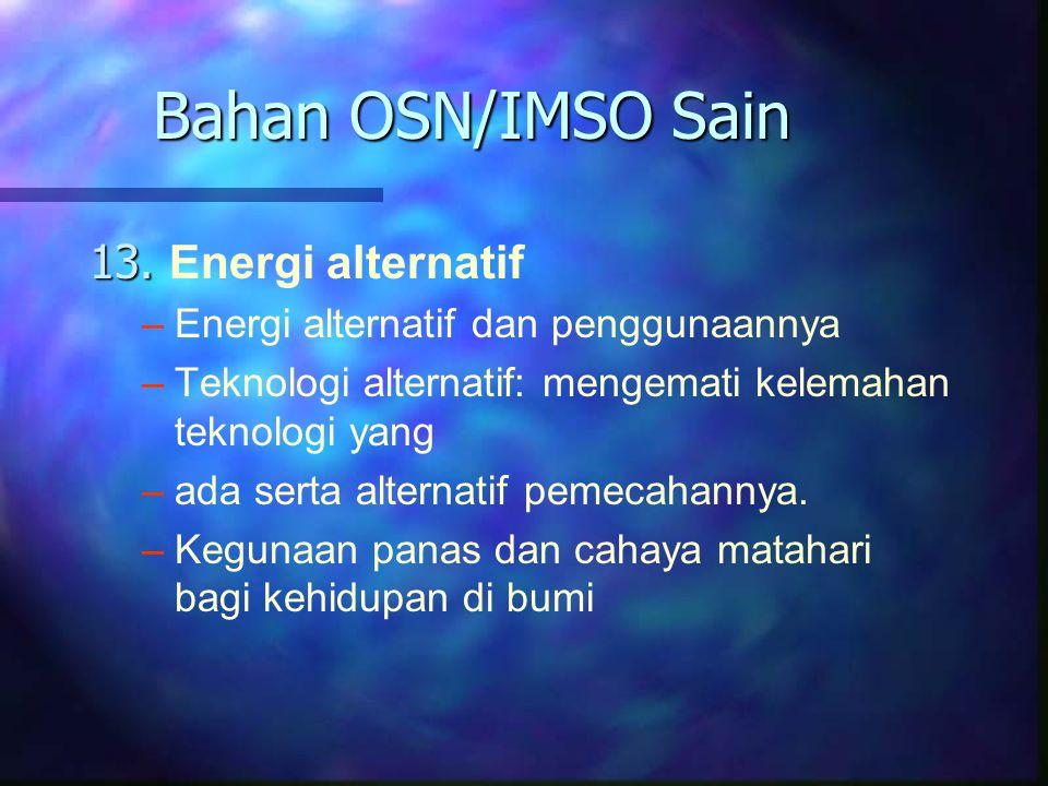 Bahan OSN/IMSO Sain 13. Energi alternatif