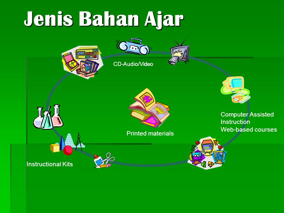 Jenis Bahan Ajar Computer Assisted Instruction Web-based courses