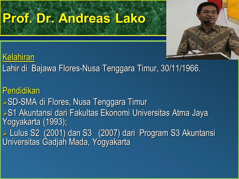 Prof. Dr. Andreas Lako Kelahiran