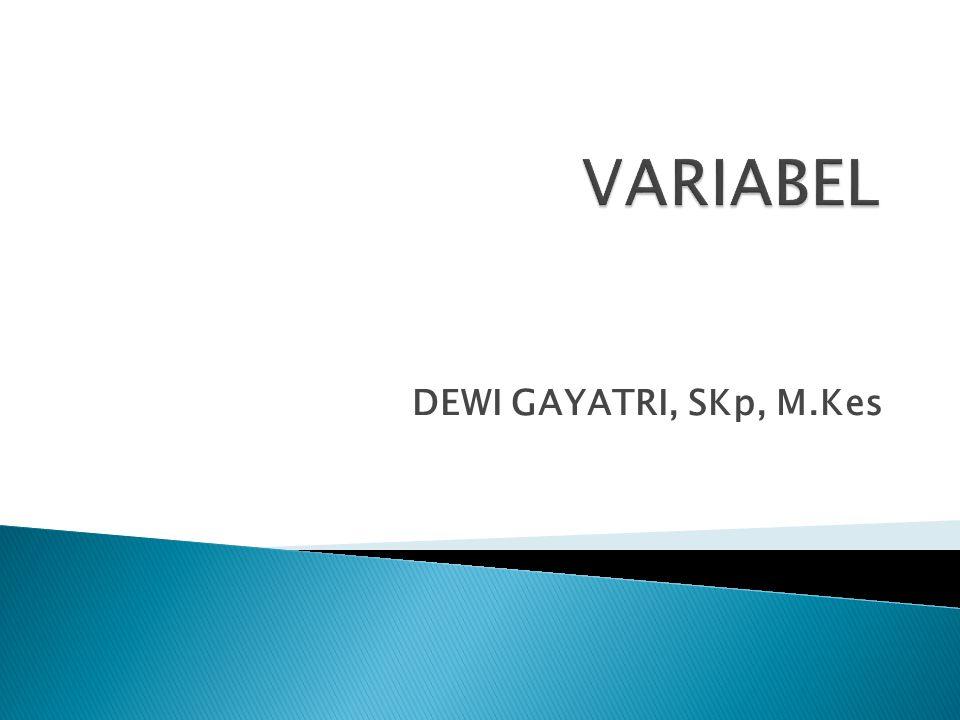 VARIABEL DEWI GAYATRI, SKp, M.Kes