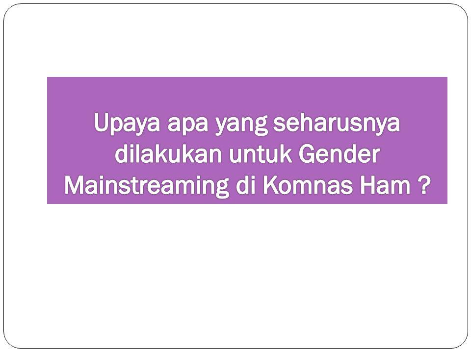 Upaya apa yang seharusnya dilakukan untuk Gender Mainstreaming di Komnas Ham