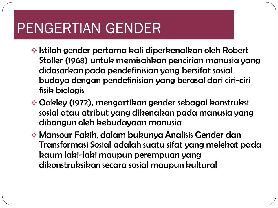 PENGERTIAN GENDER