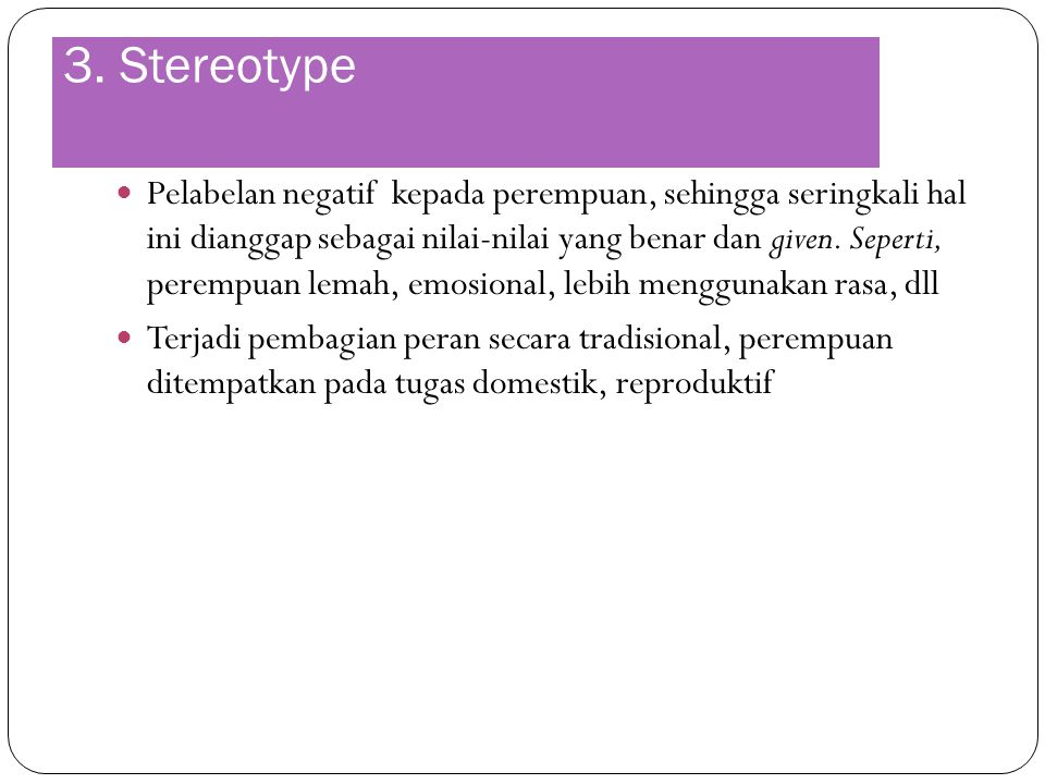 3. Stereotype