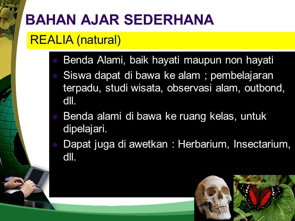 BAHAN AJAR SEDERHANA REALIA (natural)