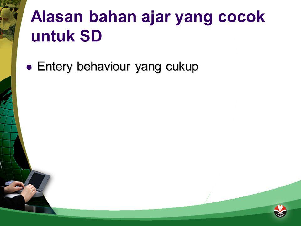 Alasan bahan ajar yang cocok untuk SD