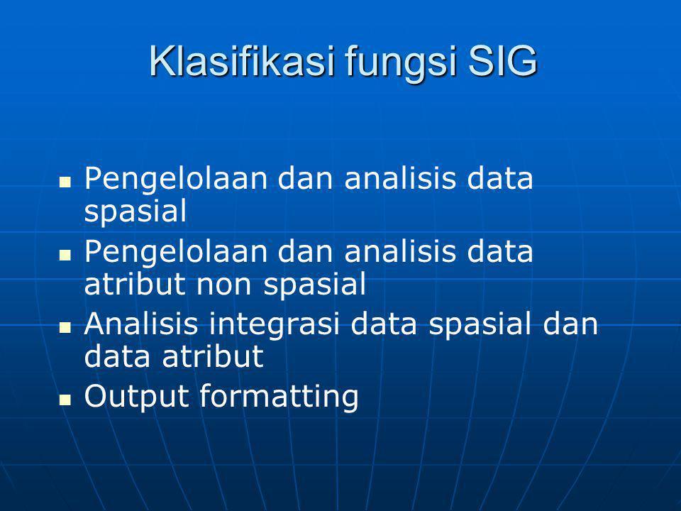 Klasifikasi fungsi SIG