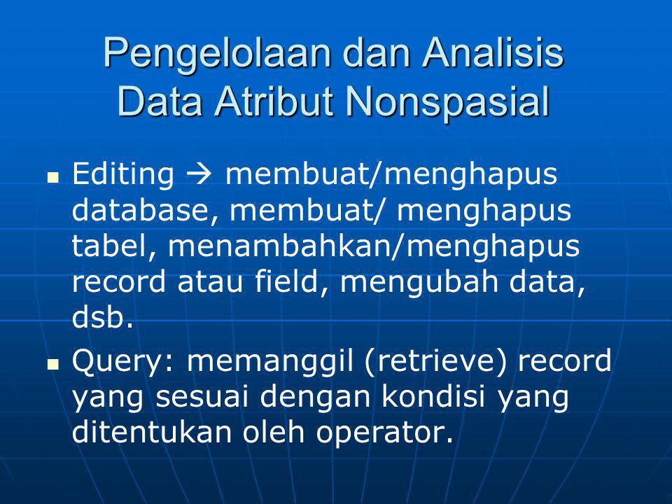 Pengelolaan dan Analisis Data Atribut Nonspasial