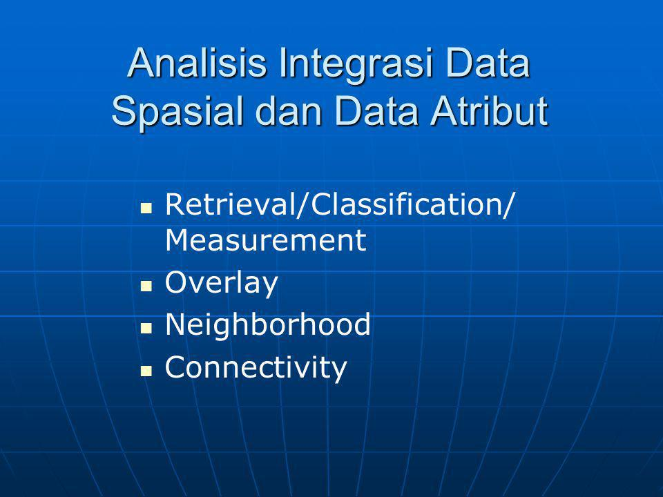 Analisis Integrasi Data Spasial dan Data Atribut