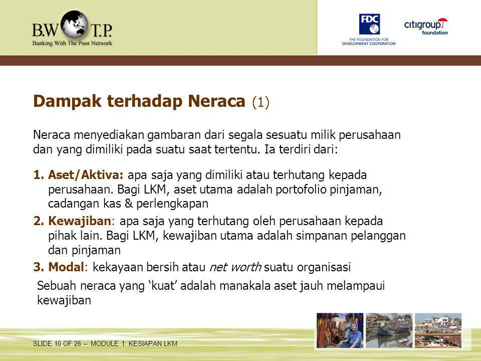 Dampak terhadap Neraca (1)