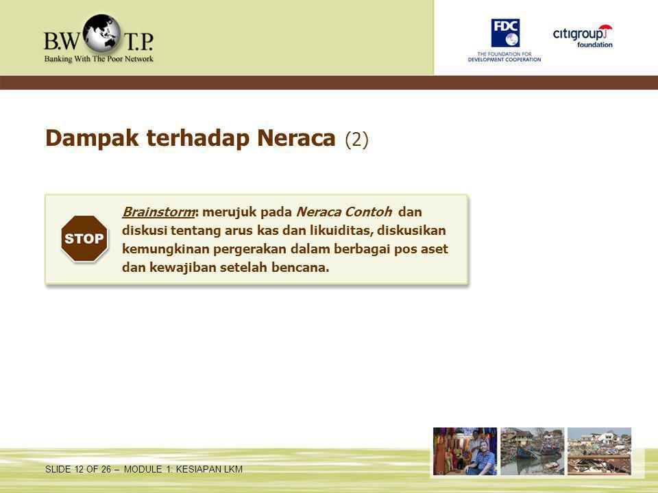 Dampak terhadap Neraca (2)