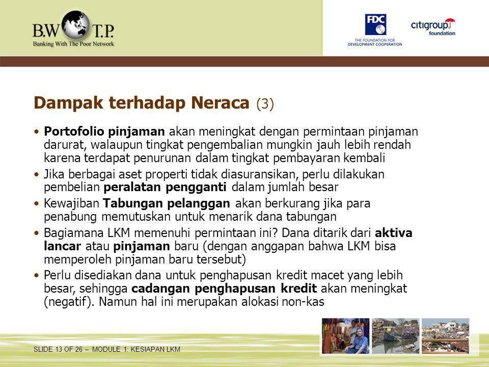 Dampak terhadap Neraca (3)