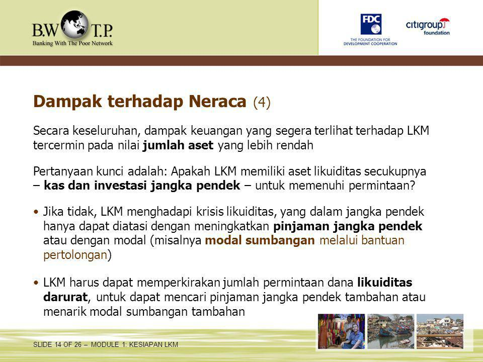 Dampak terhadap Neraca (4)