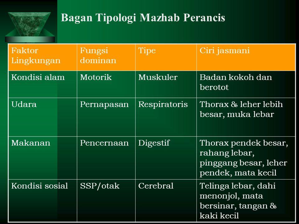 Bagan Tipologi Mazhab Perancis