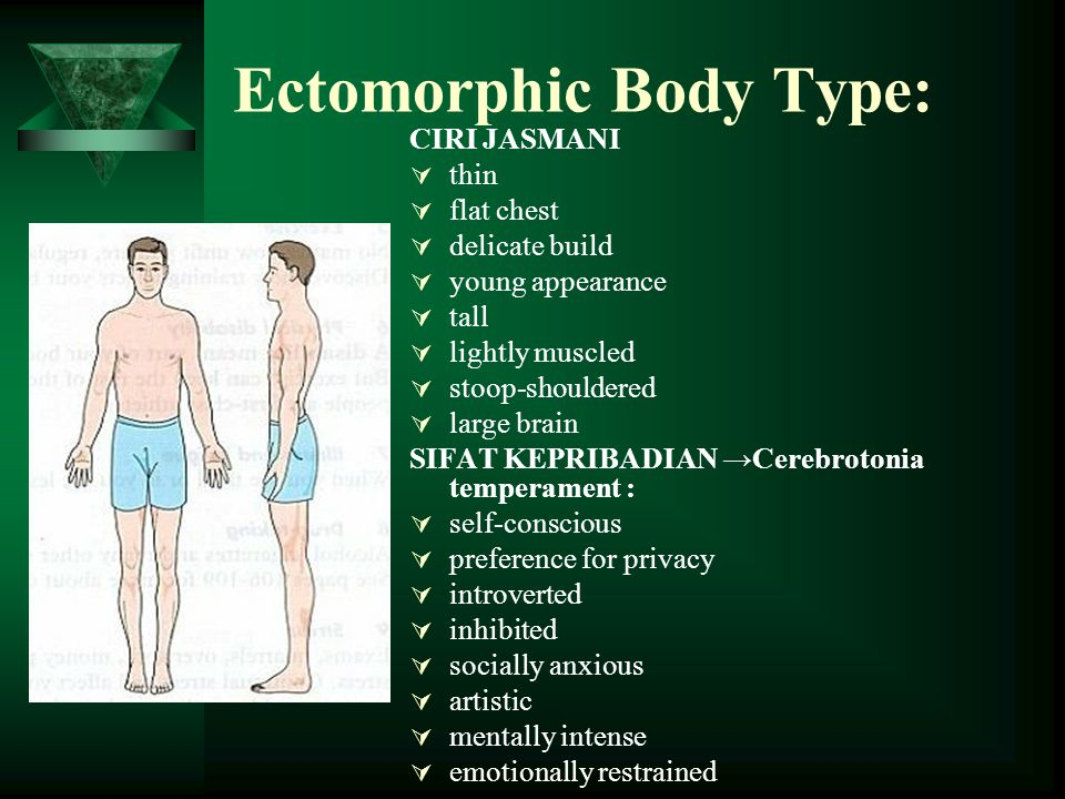 Ectomorphic Body Type:
