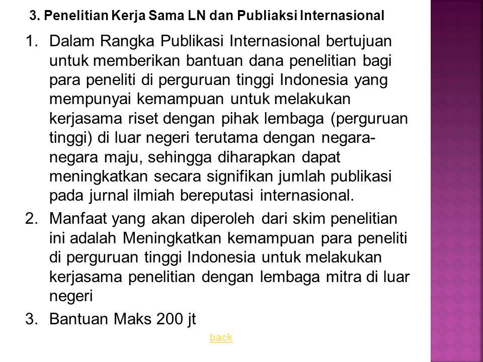 3. Penelitian Kerja Sama LN dan Publiaksi Internasional
