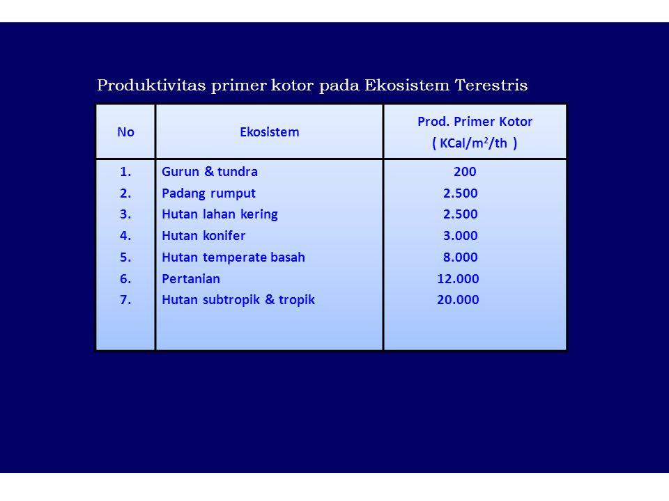 Produktivitas primer kotor pada Ekosistem Terestris