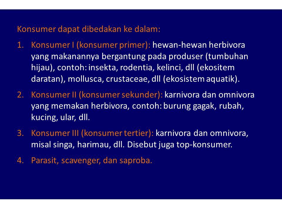 Konsumer dapat dibedakan ke dalam: