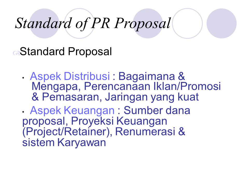 Standard of PR Proposal