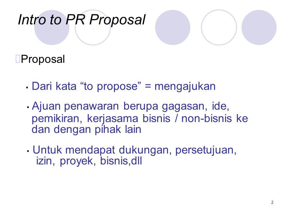 Intro to PR Proposal ™Proposal