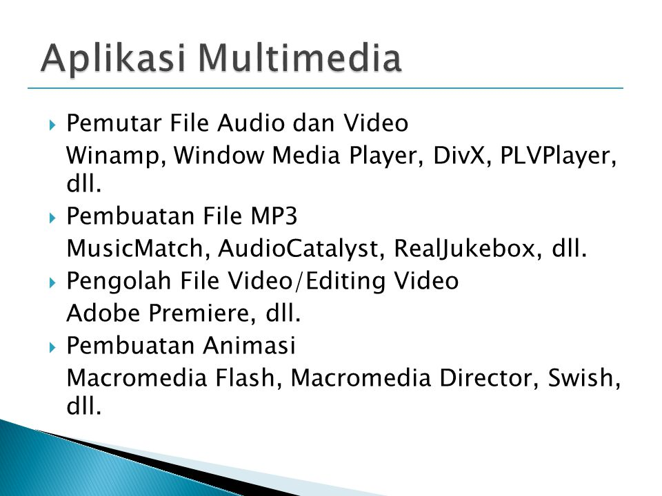 Aplikasi Multimedia Pemutar File Audio dan Video