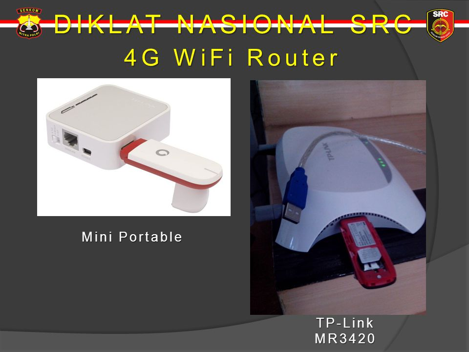 DIKLAT NASIONAL SRC 4G WiFi Router Mini Portable TP-Link MR3420