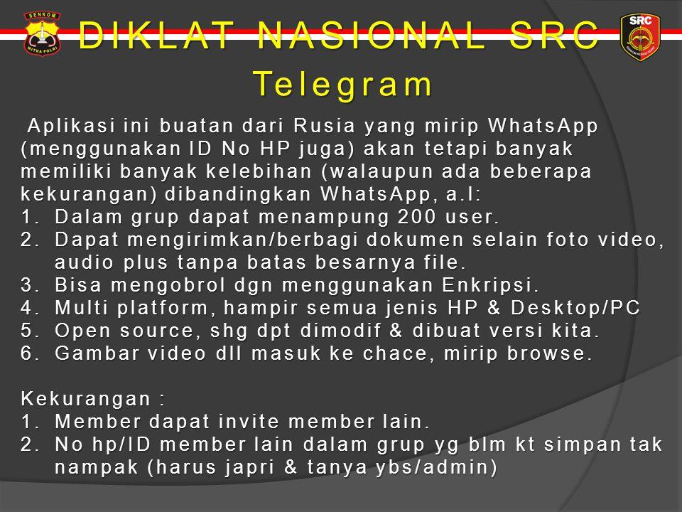 DIKLAT NASIONAL SRC Telegram